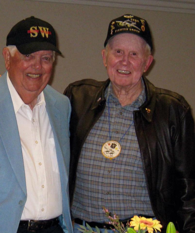 """Ox"" Oxford and ""Fox"" Olson - pilots of the 475th. We'll miss you both."