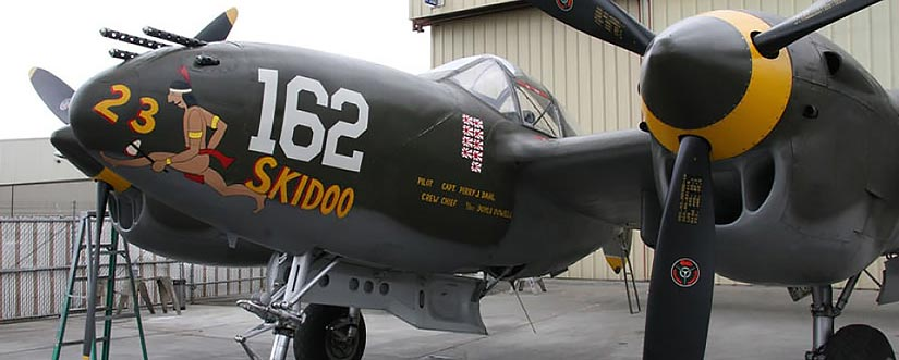 475th Fighter Group Historical Foundation Museum Hanger at Planes of Fame Museum in Chino, CA: 23 Skidoo!