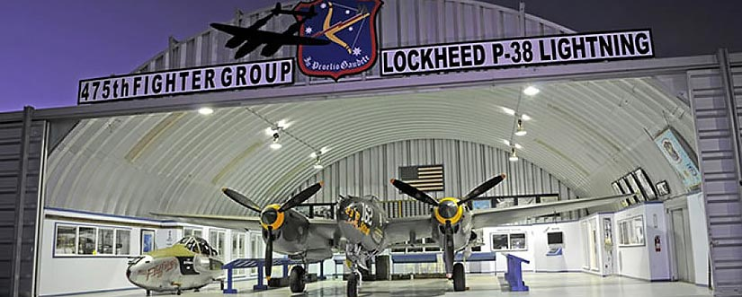 475th Fighter Group Historical Foundation Museum Hanger at Planes of Fame Museum in Chino, CA