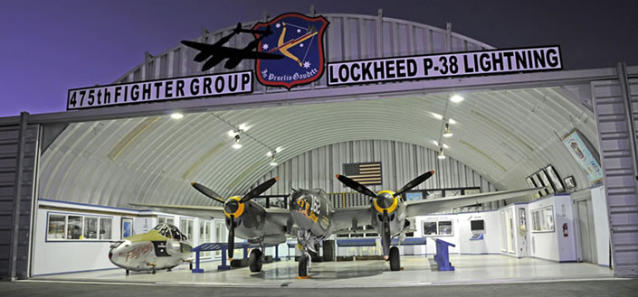 the 475th Fighter Group Historical Foundation Hangar