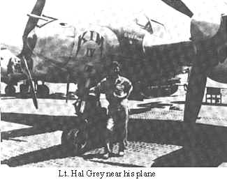 Lt. Hal Grey Near His Plane