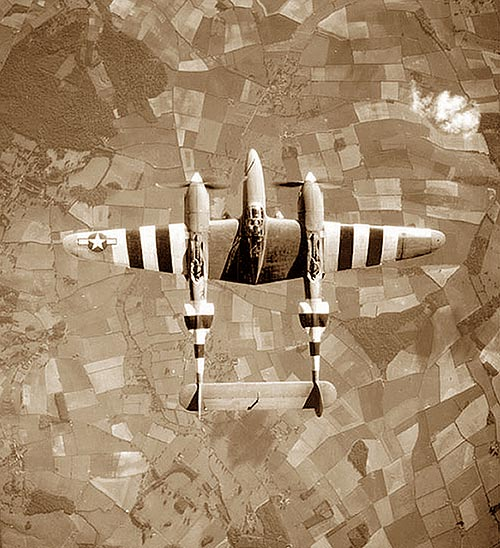 Top View of P-38