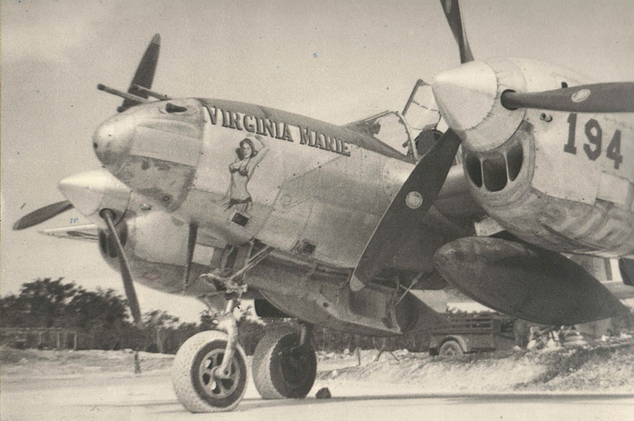 "Lockheed P-38210 ""Virginia Marie"" #194, Makmer Strip, Brac Island, DNG August-September 1944"