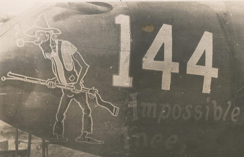 Capt James C. Ince's 144 - Ince nicknamed 'Impossible' was a six victory ace and a veteran combat leader in the 432nd.